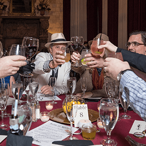 Toledo Murder Mystery guests raise glasses